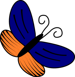 Blue And Orange Butterfly Clip Art at Clker.com.