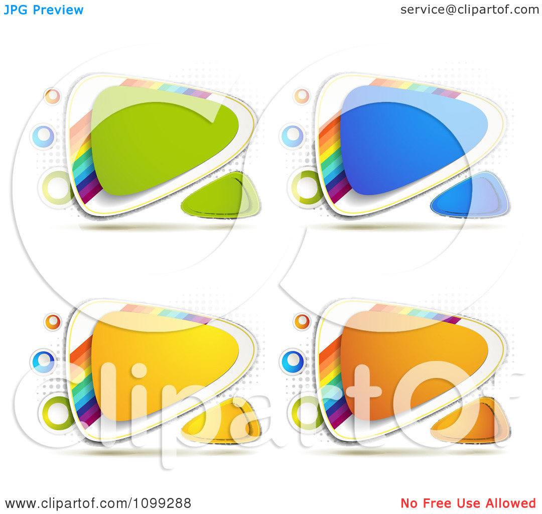 Clipart Yellow Green Blue Orange Triangular Icon Buttons With.