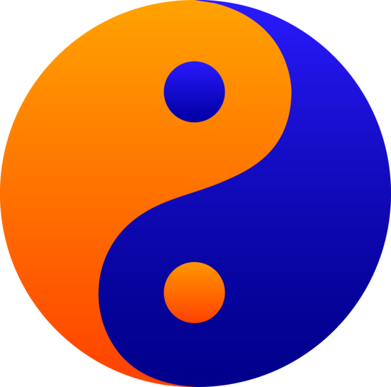 Clipart orange and blue.