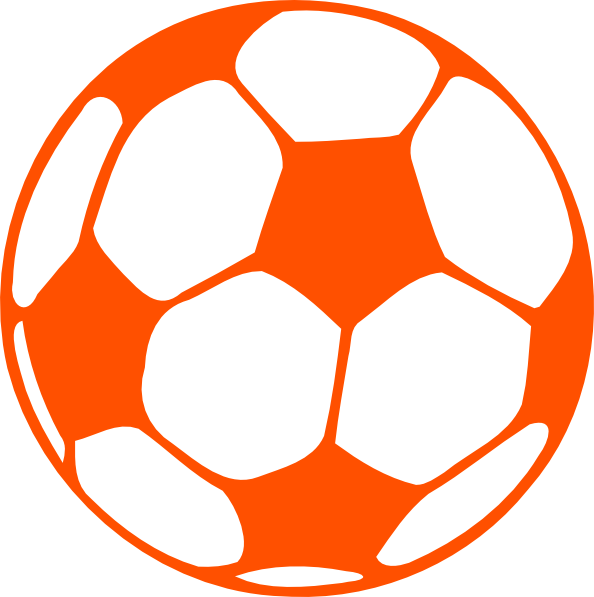 Orange And Blue Soccer Ball Clipart.