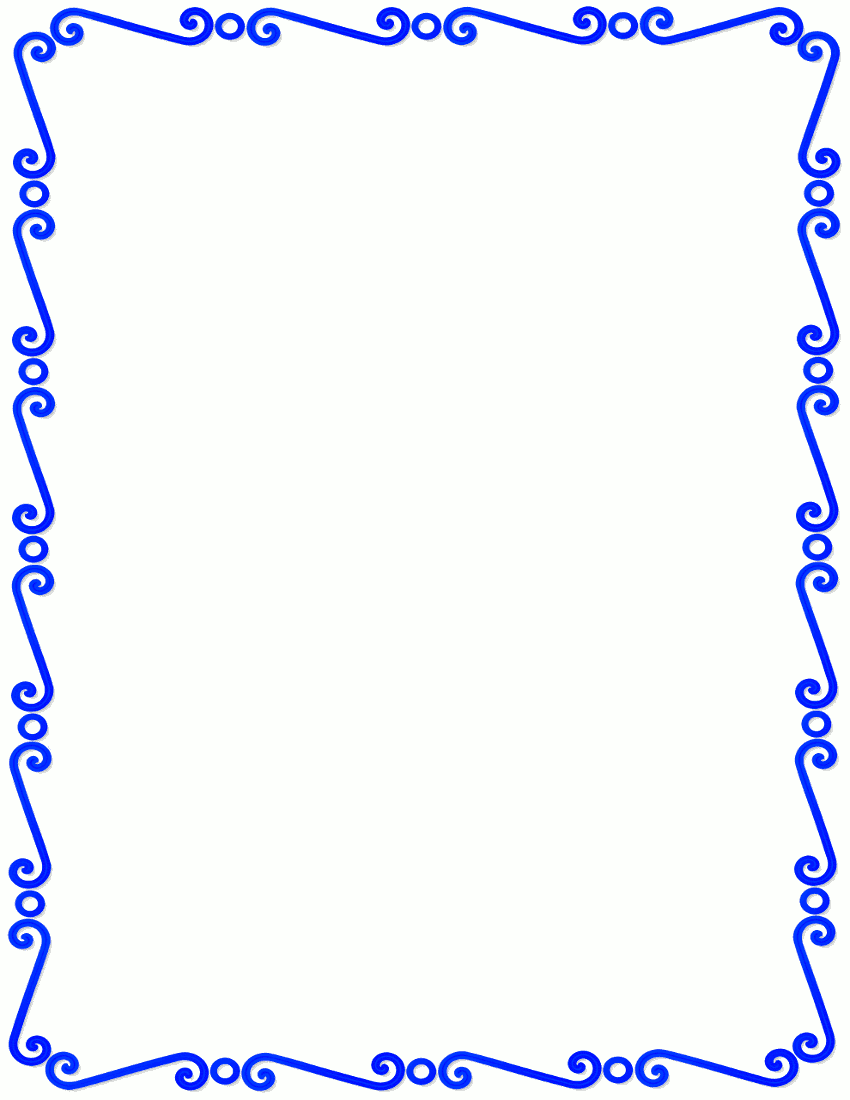 blue outline clipart frames and borders clipground Microphone Clip Art Pretty Music Notes