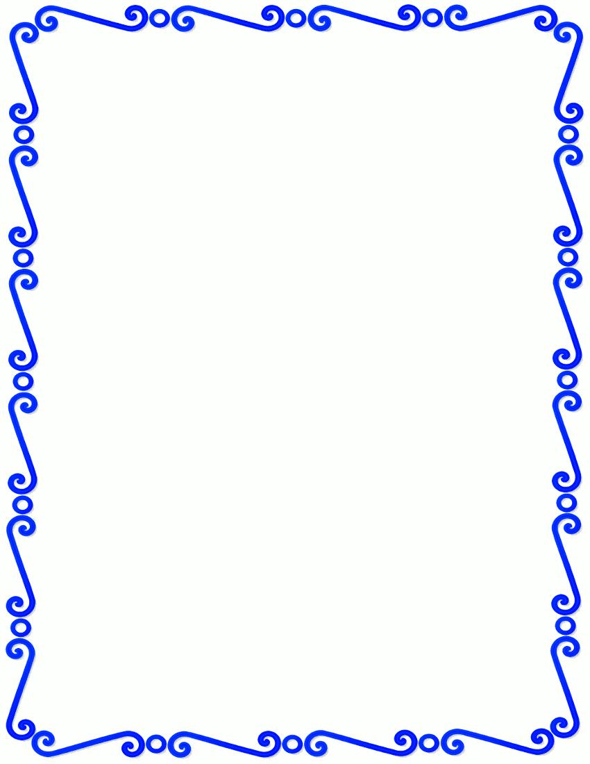 blue spirals border.