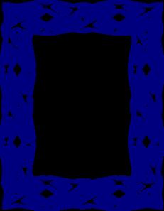 Blue Border 2 Clip Art at Clker.com.