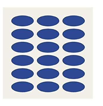 Amazon.com : 100 Royal Blue Oval Stickers.