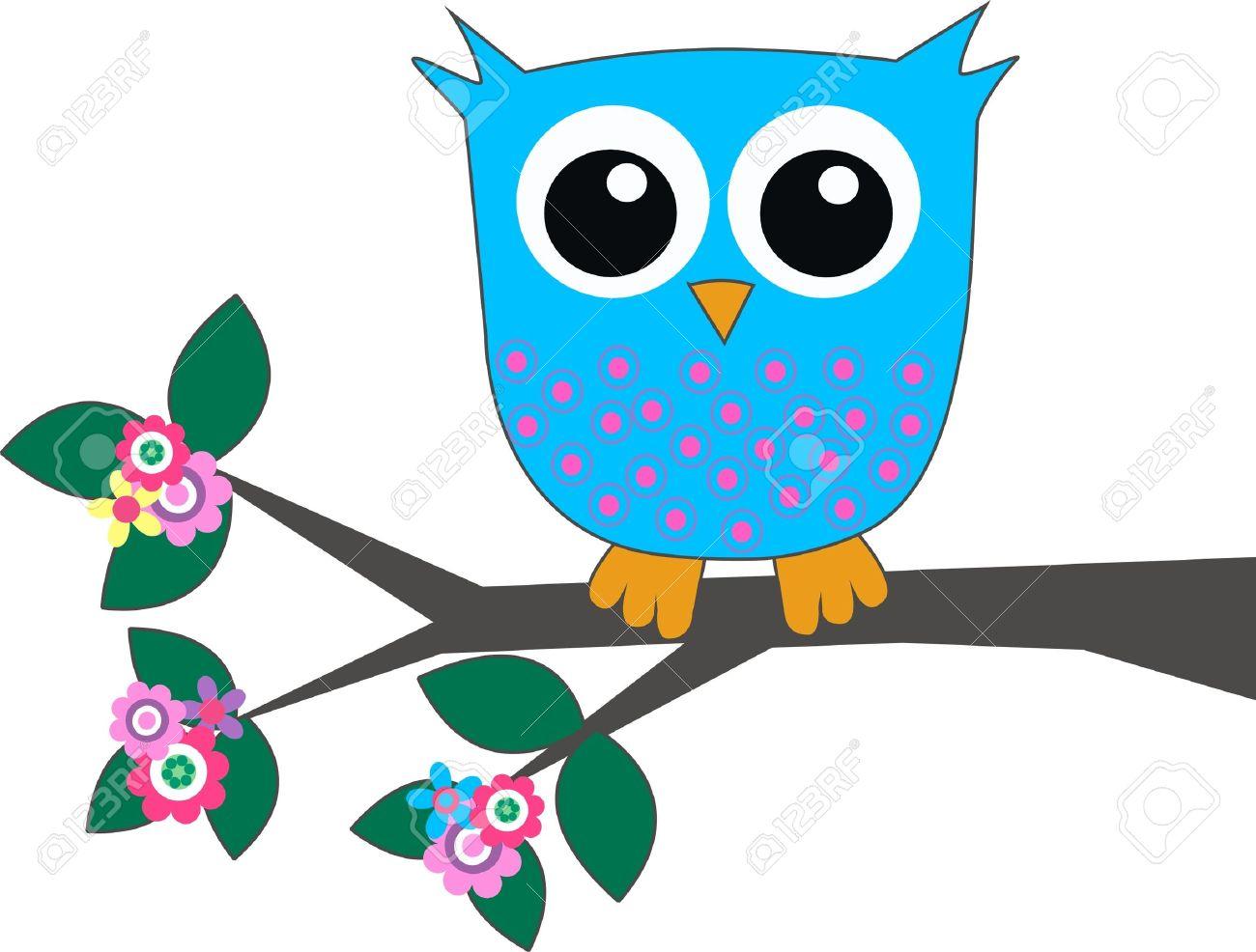 a cute blue owl.