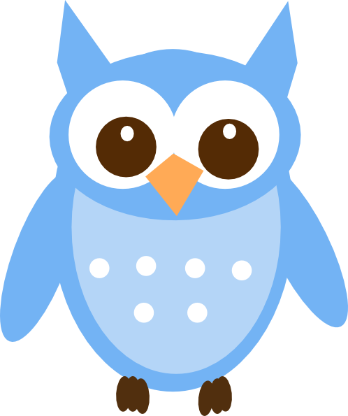 Baby Blue Owl Clip Art at Clker.com.