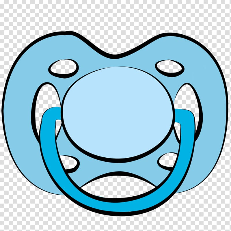 Blue pacifier illustration, Pacifier Infant Cartoon Baby bottle.