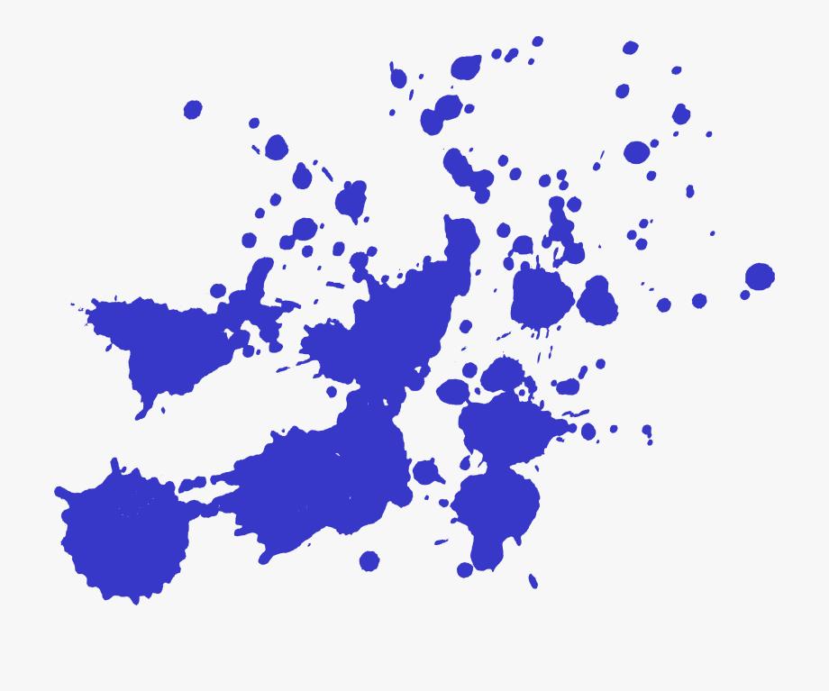 Splash Transparent Blue Paint.