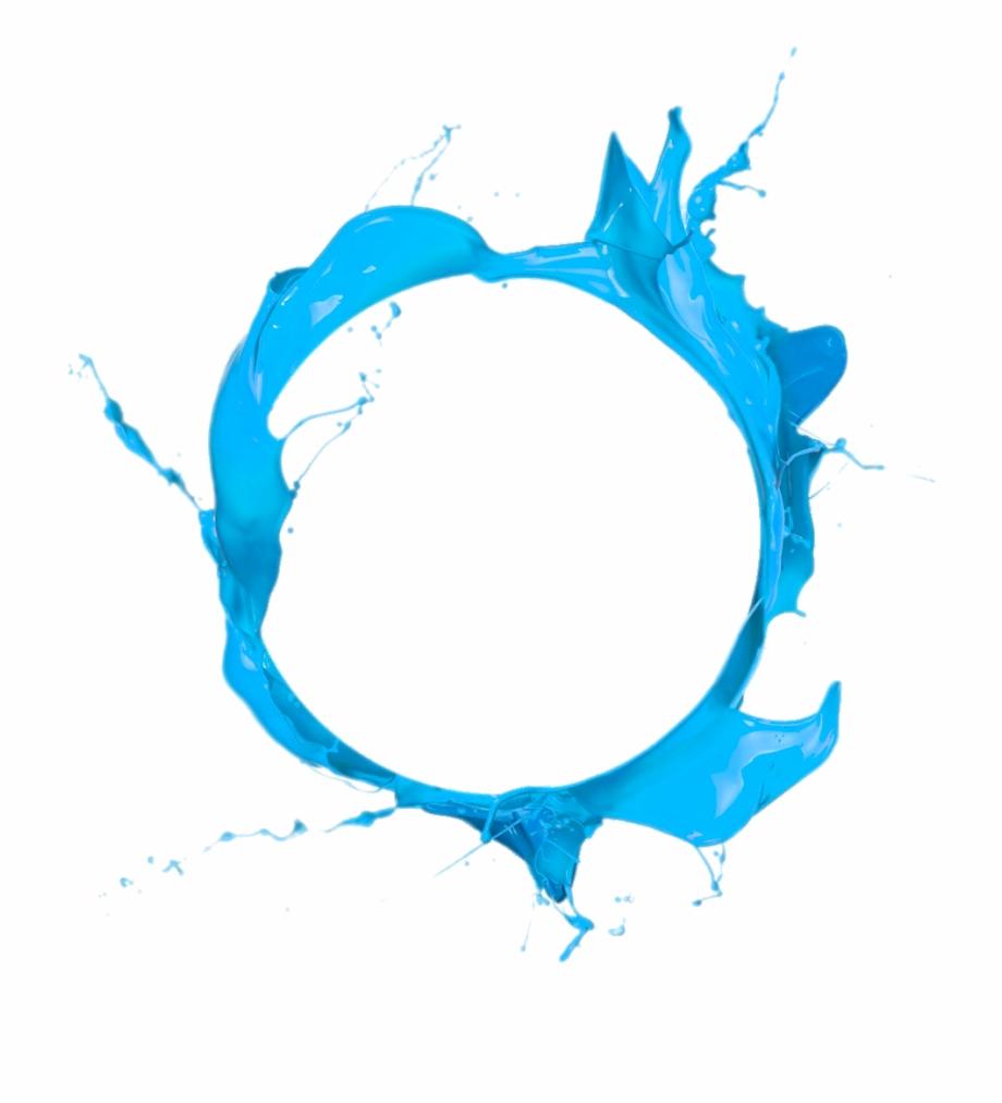 Jpg Royalty Free Circle Paint Blue Clip Art.