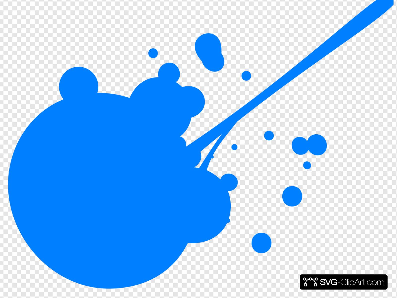 Blue Paint Splatter Clip art, Icon and SVG.