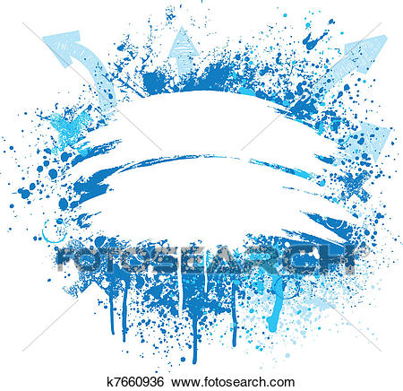 Blue and white grunge design Clip Art.