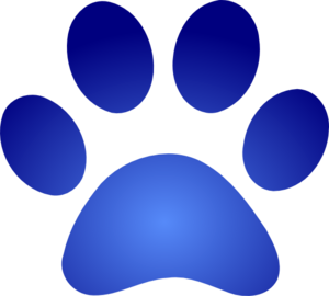 Blue Paw Print With Gradient Clip Art at Clker.com.