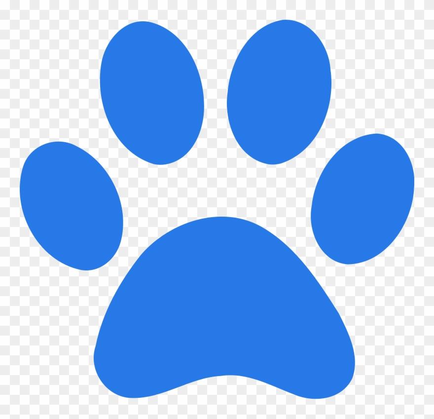 Blue Paw Print Clipart (#1604556).