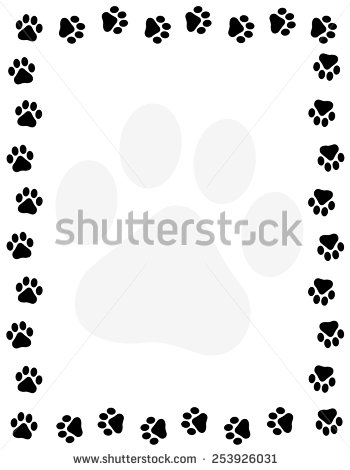 Dog Print Stock Images, Royalty.
