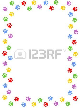 Paw Print Border Stock Photos & Pictures. Royalty Free Paw Print.