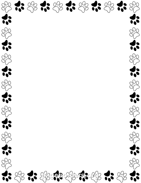 paw print clipart border - Clipground