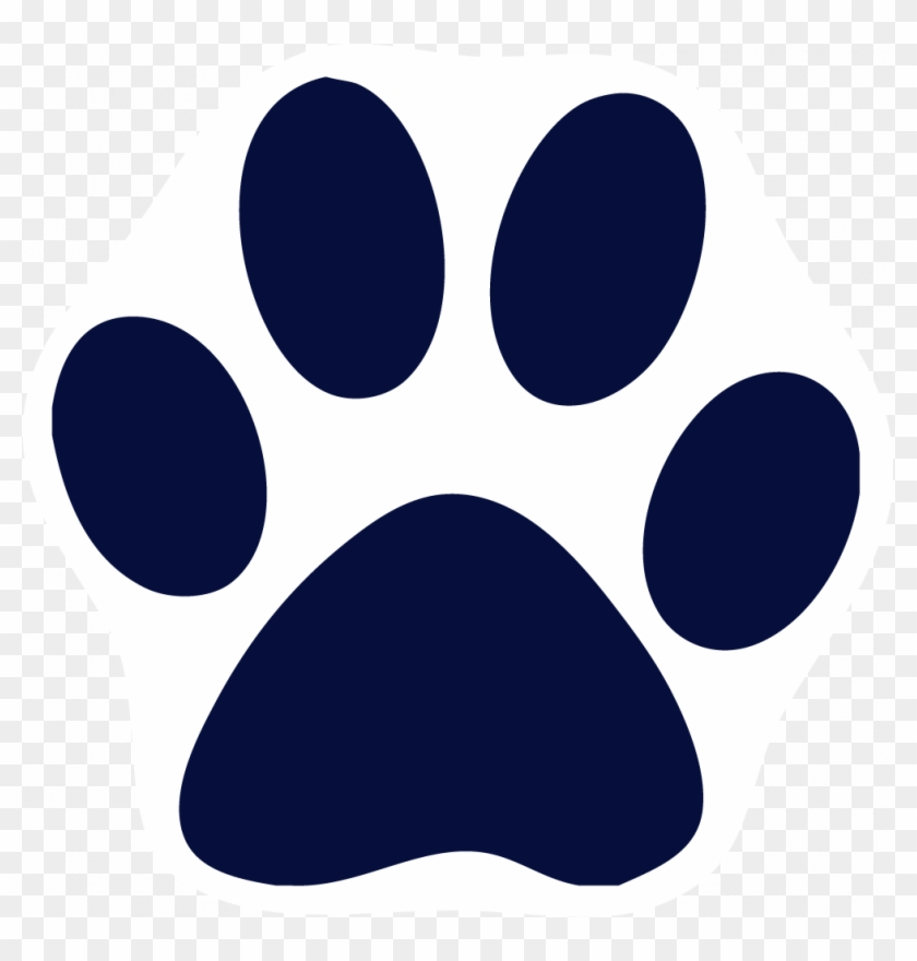 Navy Clipart Paw Print.