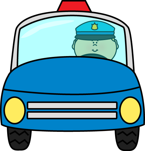 Blue police car clipart.