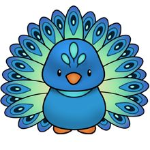 Free Peacock Clipart #1.