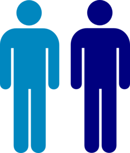 Blue People Clipart.
