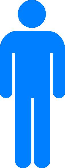 Blue Person Symbol Clip Art at Clker.com.