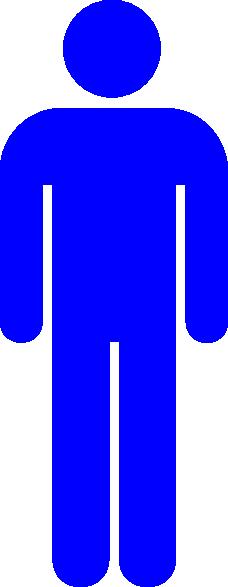 Blue Person Symbol SVG Clip arts download.
