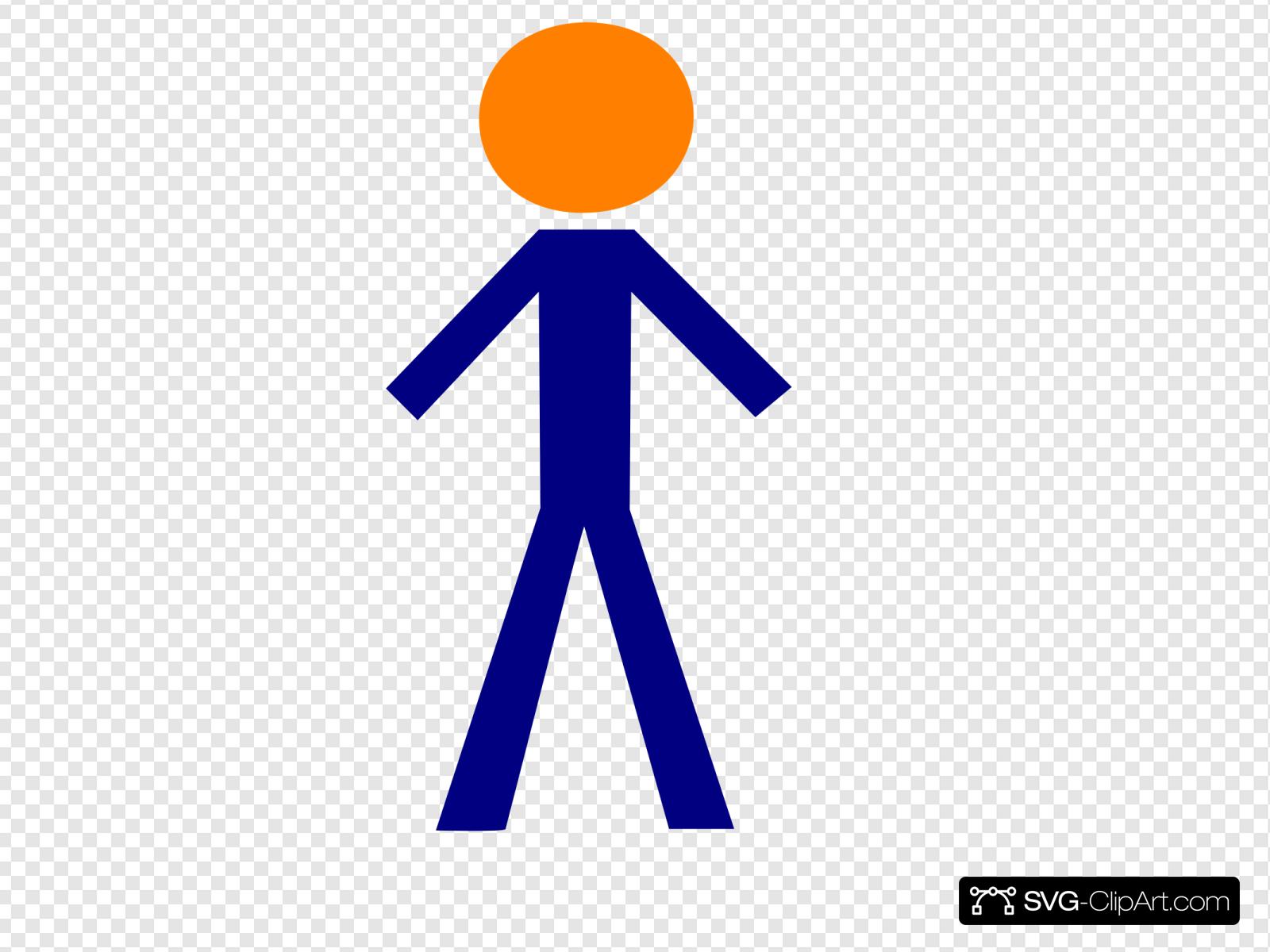 Orange Blue Person Clip art, Icon and SVG.