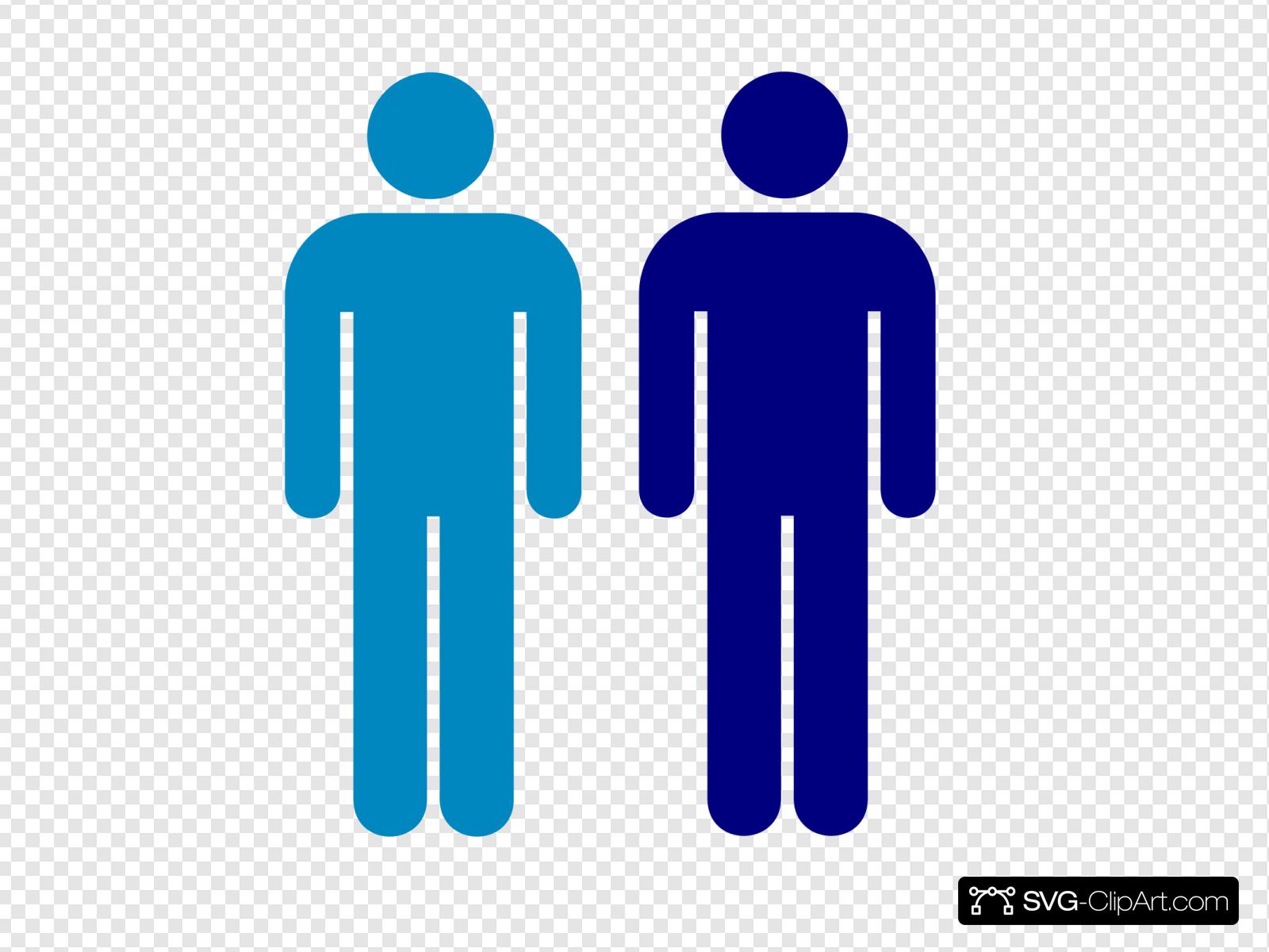 Blue Person Symbol Clip art, Icon and SVG.