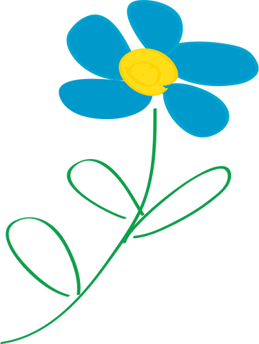 Flower with blue petals.