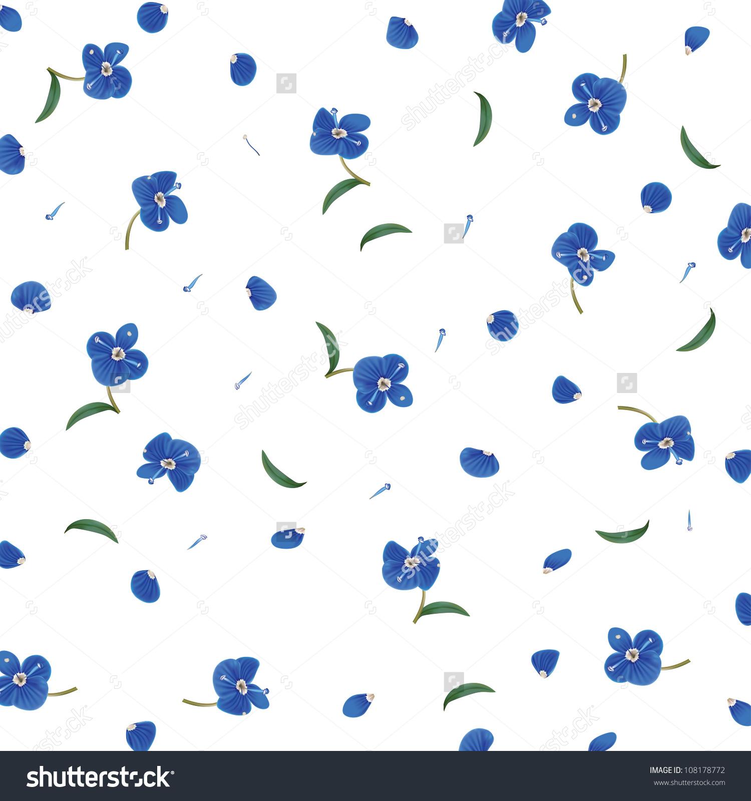 Blue Petals Clip Art.