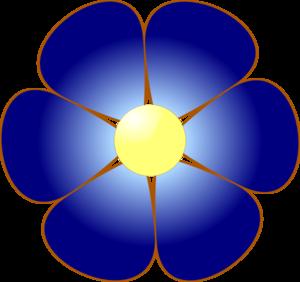 Blue Rose Petals Clip Art.