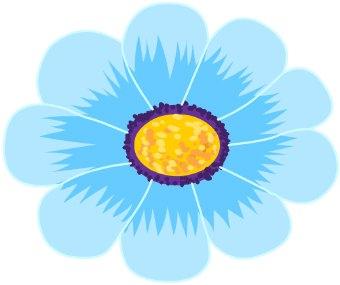 Blue Daisy Clipart.