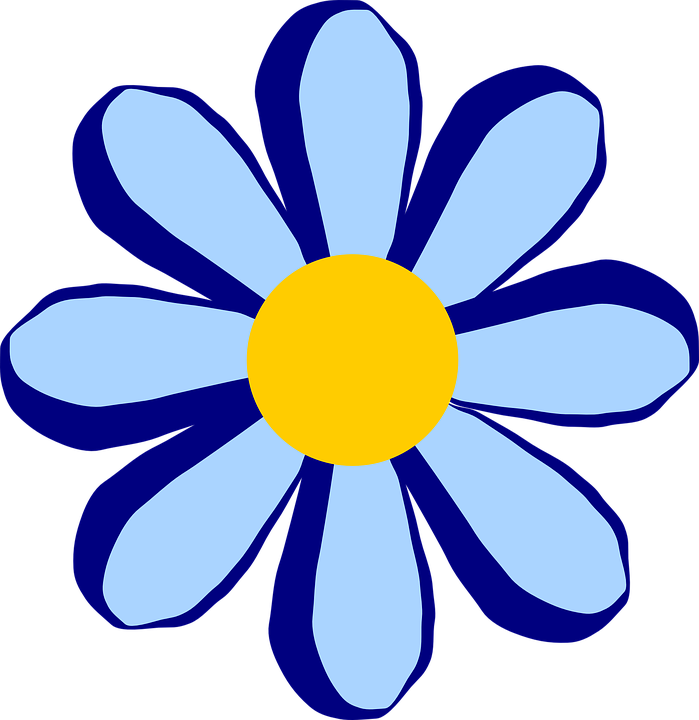 Free vector graphic: Flower, Floral, Petals, Blue.