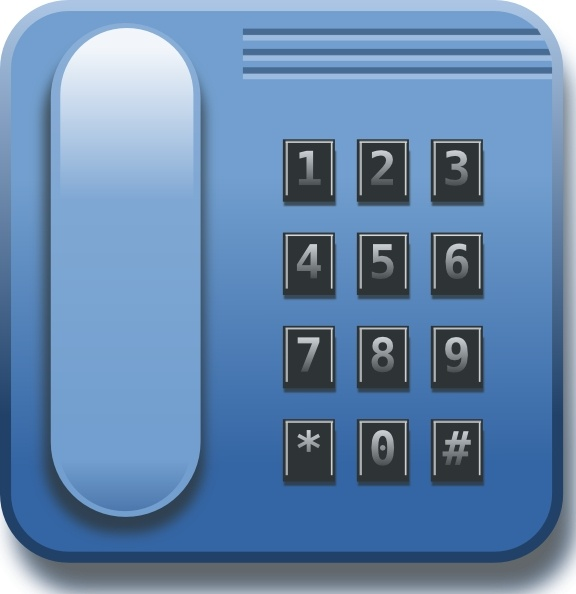 Blue Phone clip art Free vector in Open office drawing svg ( .svg.