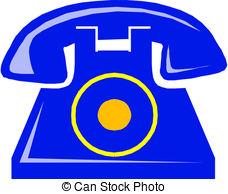 Clip Art Vector of old phone.
