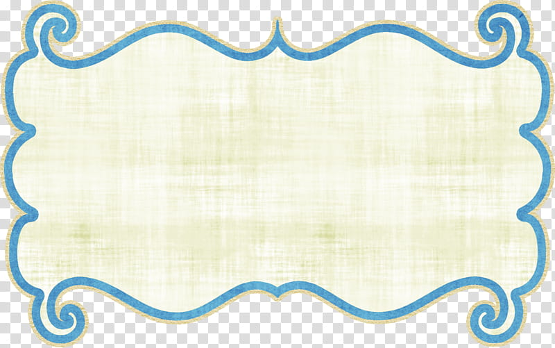 White and blue frame transparent background PNG clipart.
