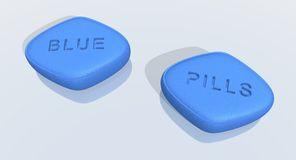 Blue Pills Clipart.