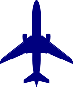 Blue Plane Clip Art at Clker.com.