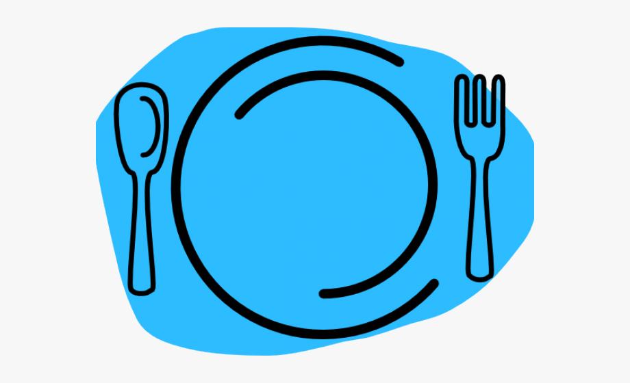 Dinner Plate Clipart Blue Plate.