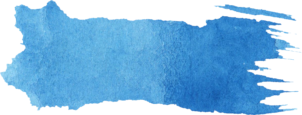 16 Blue Watercolor Brush Stroke Banner (PNG Transparent).