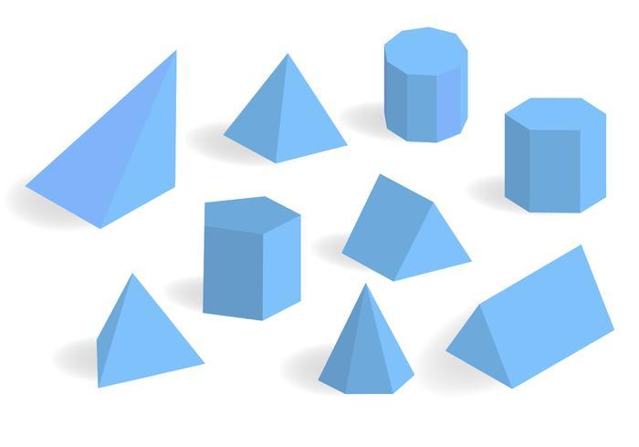 Blue Prisma and Prism Vector Set.