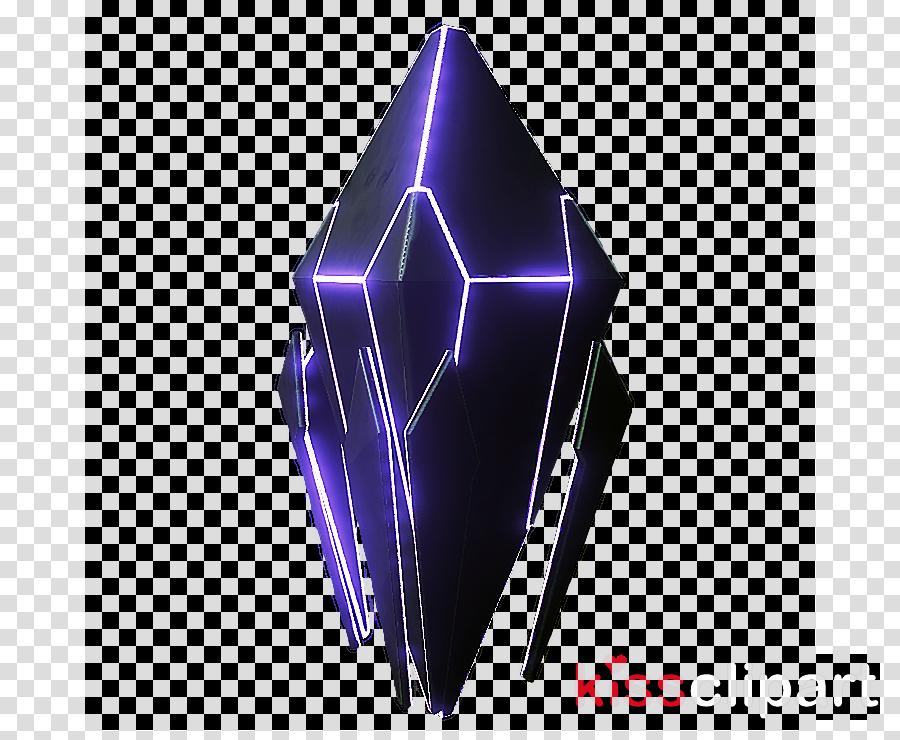 purple violet crystal electric blue prism clipart.