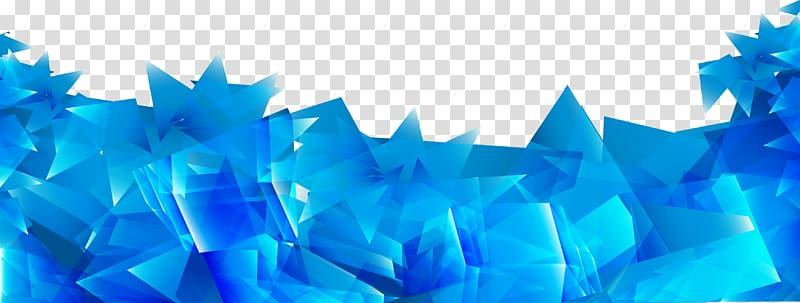 Blue Geometry, Abstract blue irregular prism background.