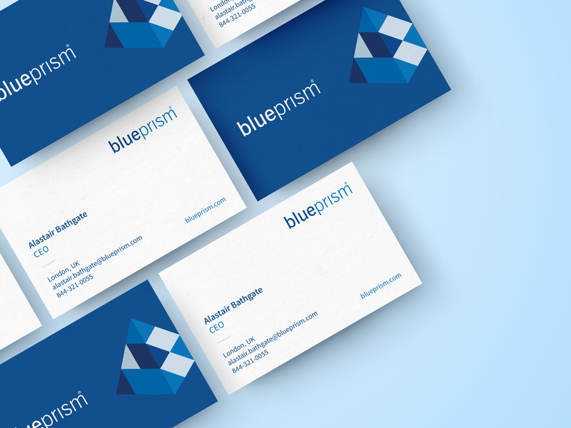 Blue Prism Business Cards by Jessica Lyons on Dribbble.