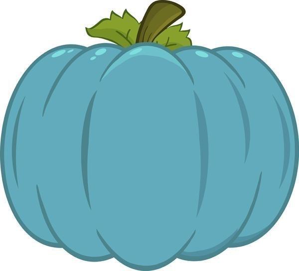 Teal Pumpkin Clipart.