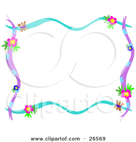 Clipart Crayon And Pencil Border Framing Blue Copy Space.