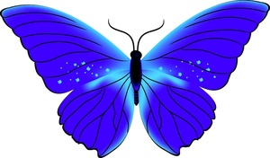 Butterfly clipart blue.
