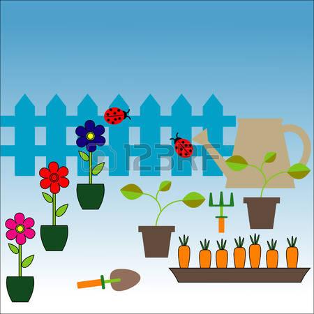 177 Pushcart Garden Stock Vector Illustration And Royalty Free.