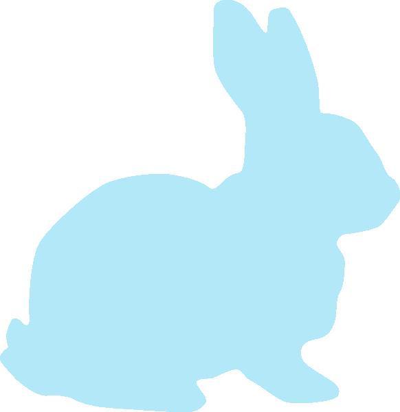 Blue Rabbit Clip Art at Clker.com.