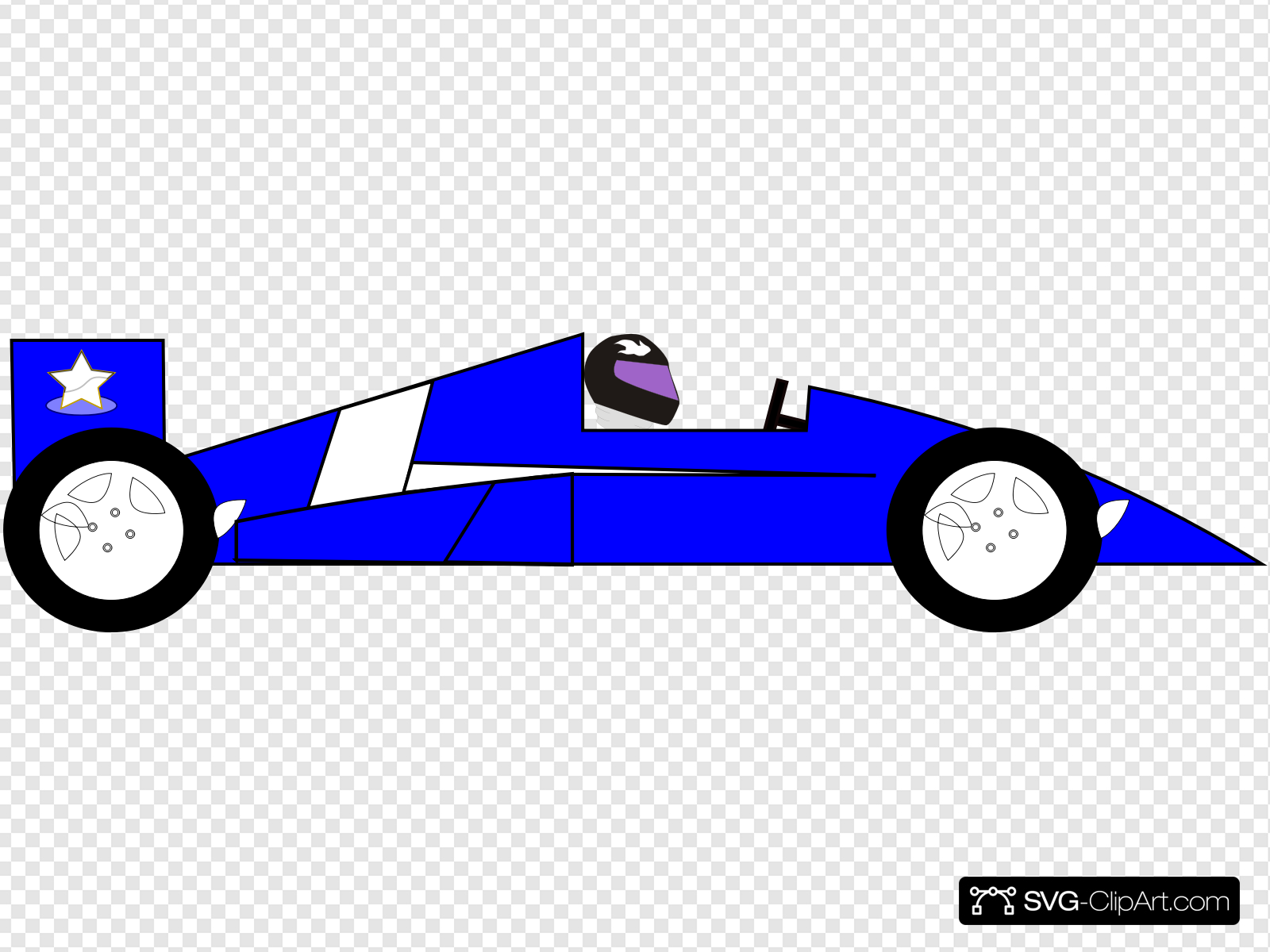 Blue Racecar Clip art, Icon and SVG.